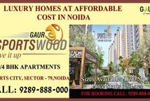Gaur Sports Wood Flats / Gaursons Group have brought a wonderful residential project Gaur Sports Wood. The mind blowing residential project has designed 3/4 bhk apartments in light of offering the most natural and peaceful atmosphere.
