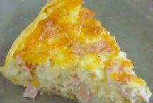 Torta salgada com massa de batata