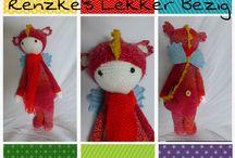 Renzke's Lekker Bezig - Lalylala's / Beschikbare en verkochte gehaakte poppen. Gehaakt naar aanleiding van de Lalylala patronen. Meer weten? Ga naar http://renzkeslekkerbezig.weebly.com/gehaakte-lalylala-poppen.html