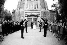 Matrimonio in divisa / Affascinanti picchetti d'onore agli sposi