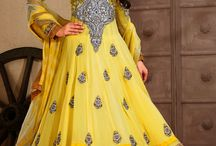 Wedding Anarkali Suits / Long Anarkali Style with Embroidery and Patchwork
