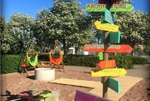 Pop up park Oskarshamn / Strandpark beach park lastpallar pallets placemaking