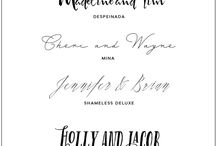 Wedding - Fonts