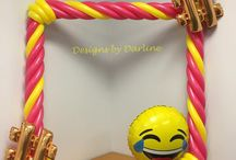 Emoji Balloon ideas / Balloon Sculptures Photo Op Picture Frame Columns Arches