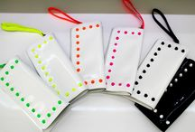 Studded Clutch / Patent Leather 100% Made In Italy Neon Colours