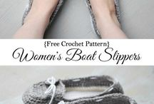 zapatos medias crochet