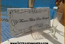 Carteles de Boda / Realizamos totalmente a tu gusto y de forma artesanal los carteles para tu boda