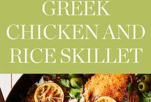 Greek Chicken with Rice