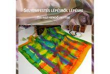 Wonderful silkpainting / Silk scarves, silkpainting, silk dresses and more.