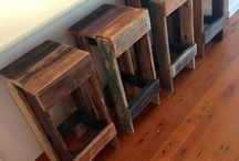 Wooden stools ideas / Cool pallet stools