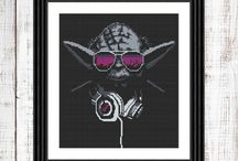 Star Wars cross stitch pattern / Yoda