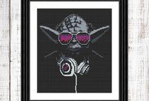 Star Wars cross stitch pattern / Yoda