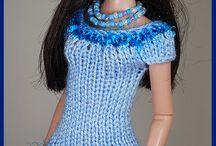 blauwe jurk barbie