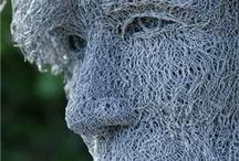ståltråds skulptur