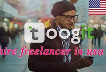 Hire freelancers from usa / Hire freelancers from usa in toogit.com one of the leading freelancer marketplace having more number of experience professional freelancers. It offers online freelancing work, hire freelancers from various country as well.
