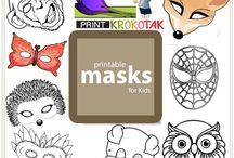 Masky a karneval / šašo klaun