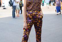 Runway style / Bold colors, bold print mixing, sky high heels / by Shirley Ceballos