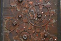 авторские панно  .. Стимпанк .. Лофт .. Индустриальный / декор для оформления интерьеров в стиле Лофт и Индустриальный