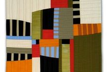 Modern Quilts / Quilts with open designs in the modern mode.