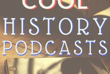 History Podcasts / If you love history, then these pins about history podcasts are for you! Find great podcast recommendations about American history, British History, topics for teaching history, history for kids, and more!
