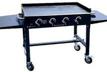 Blackstone Griddles and Grills / Blackstone griddles and grills are great for BBQ and large gattherings.  This board shows the variety of blackstone griddles and other blackstone products.