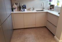 Ex Display Alno Designer Kitchen in White Gloss & Grey Matt