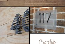 House number / Numer dmu / House number - inspirations and tutorials Numer domu - inspiracje