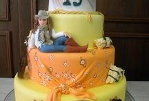 kovboj - western/ horse cake