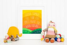 Colorful Nursery Inspiration / Colorful nursery ideas to inspire creativity and imagination.