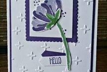 Cards SU Bunch of blossoms, Lotus, petals