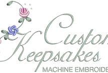 Custom Keepsake Machine Embroidery