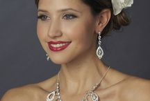 Glam Bride / For those who love drama, bling and red lips