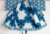 Indigovärjätty takki