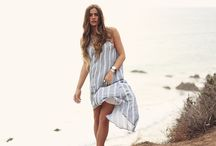 By The Sea / We are so ready for warm weather outfits! Hey Spring, get at us! Shop the breezy beautiful maxi dress featured here on Romance Riders.