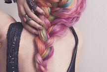 Rainbow Hair / .