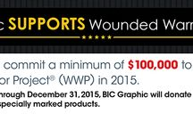Wounded Warrior Project / Amsterdam Printing partners with BIC Graphic to support Wounded Warrior Project(R). BIC Graphic will commit a minimum of $100,000 to WWP in 2015. $2.00 per order of these specially designated products will be donated to WWP. / by Amsterdam Printing