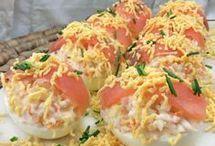 huevos rellenos salmón