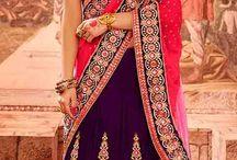 Lehenga Saree in fabric- Velvet, Net,Lycra @9,984 / Work-Embroidery Work, Hand Work,Butta Work, Lace Work, Moti Work,Resham Work, Stone Work. Only @RS.9,984 http://www.nallucollection.com/saree/bridal.html
