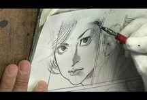 Mangakas Drawing