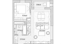 Ъ. Маленькая квартира. Планы, дизайн
