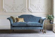 božsky pohodlné anglické pohovky a křesla / Nádherný ručně vyráběný  anglický sedací nábytek Beaumont & Fletcher