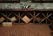 """Brick Tile Wine Cellar Floors / For an """"Old World"""" look, brick tiles are perfect for the wine cellar or home tavern."""