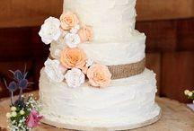 Selské svatební dorty