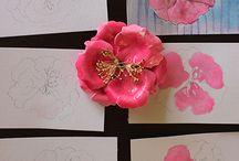 Pintura em papel e tecido