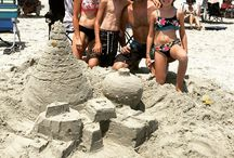 Around MBTP. A big congratulations to the winner of the sand castle building contest yesterday! We loved their Christmas flare for Christmas in July!!