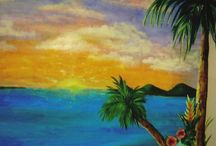 Tropical and Beach Murals / Tropical and Beach Murals created for both reisdential and commercial clients