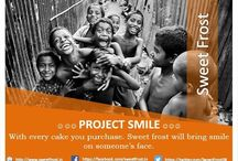 Project Smile / Project Smile    Project smile is an initiative taken by Sweet Frost with which sweet frost will share a part of it's sales to celebrate a day with kids, old age and homeless people because everyone is important and let them feel this importance.  Let's celebrate everything with a cake.  With every cake you purchase. Sweet frost will bring smile on someone's face.  #sweetfrost #projectsmile