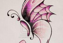 pillangó rajz