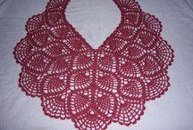 crochet shawl - scarf - poncho - cawl