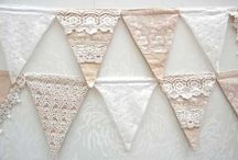 Vintage look lace and linen